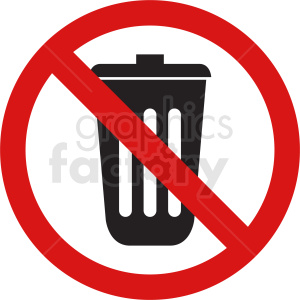 no trash vector icon clipart. Royalty-free image # 410871