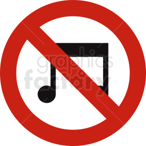 no music vector clipart