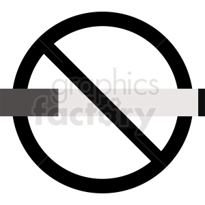 black no smoking icon clipart. Royalty-free image # 410885