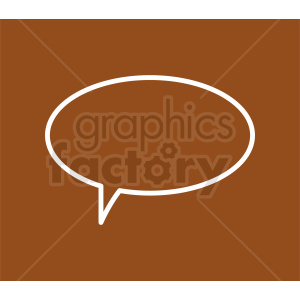 speech bubble vector clipart on brown background clipart. Royalty-free image # 410891