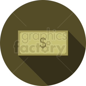 money vector icon on circle background clipart. Commercial use image # 410898