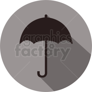 umbrella vector icon on circle background clipart. Commercial use image # 410929