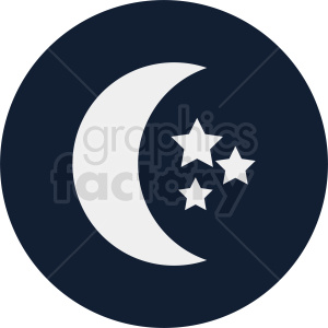 moon on navy blue circle background clipart. Commercial use image # 410943