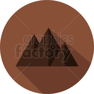 mountain on circle background clipart. Royalty-free image # 410945
