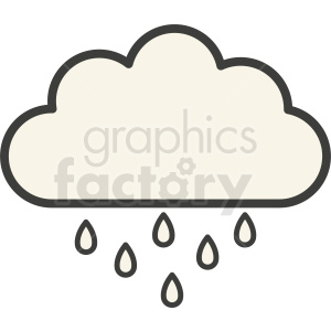 rain weather cloud vector clipart clipart. Commercial use image # 410974