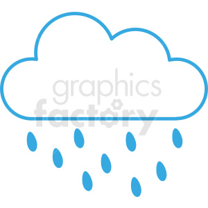 rain cloud vector icon clipart. Commercial use image # 410986