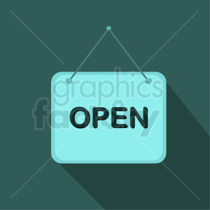open sign vector icon