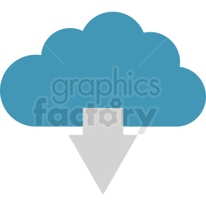 data download cloud icon clipart. Royalty-free image # 411035