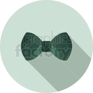 green bow tie vector clipart on circle background