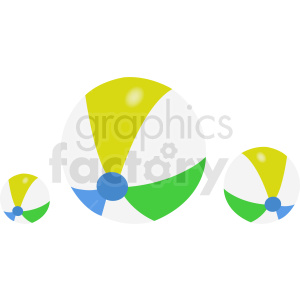beach balls design clipart. Royalty-free image # 411083