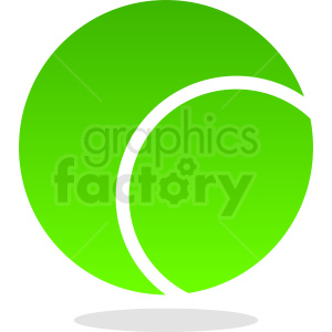 green tennis ball vector clipart. Royalty-free image # 411087