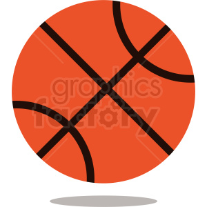 backetball with drop shadow vector icon clipart. Royalty-free image # 411092