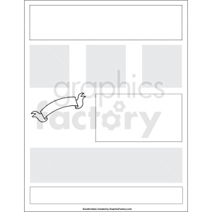 doodle notes printable template with boxes clipart. Royalty-free image # 411136