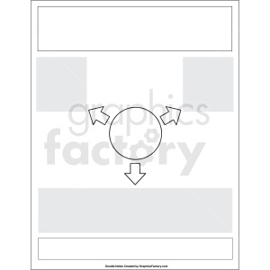 doodle notes printable blank template clipart. Royalty-free image # 411154