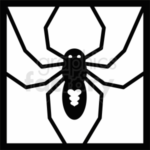 spider frame cut file clipart. Royalty-free image # 411169
