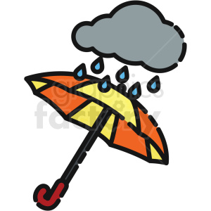 umbrella with rain cloud vector icon clipart. Royalty-free icon # 411207