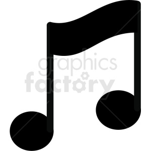 slanted music eighth note vector image clipart. Royalty-free image # 411247
