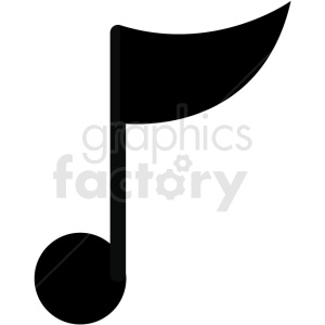 single music note vector image clipart. Royalty-free image # 411248