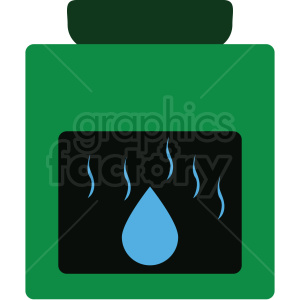 lotion container flat vector icon clipart. Royalty-free image # 411265