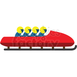 bobsled flat vector icon clipart. Royalty-free image # 411275