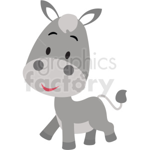 baby cartoon donkey vector clipart clipart. Royalty-free image # 411359