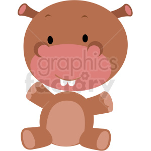 baby cartoon hippo vector clipart clipart. Commercial use image # 411367
