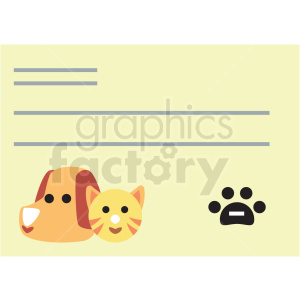 cartoon pet adoption papers vector clipart