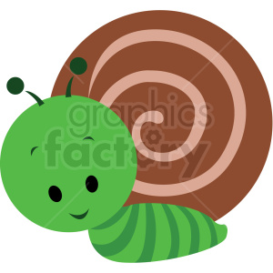 baby cartoon snail vector clipart clipart. Royalty-free image # 411381