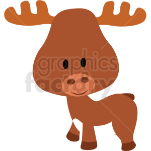 baby cartoon moose vector clipart clipart. Royalty-free image # 411383