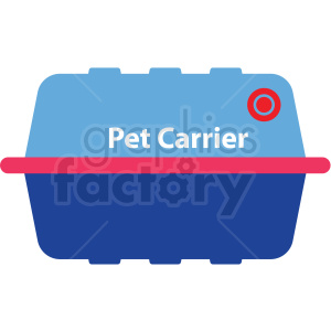 cartoon pet carrier vector clipart clipart. Commercial use image # 411389