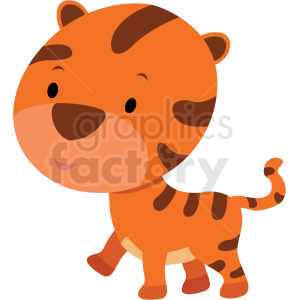 baby cartoon tiger vector clipart clipart. Commercial use image # 411395