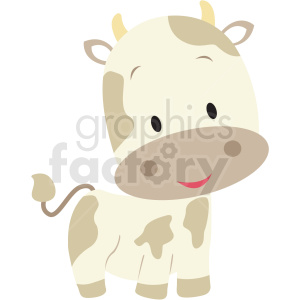 baby cartoon cow vector clipart clipart. Commercial use image # 411401