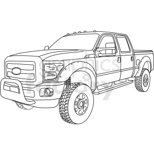 2015 F350 super duty diesel vector clipart clipart. Commercial use image # 411477