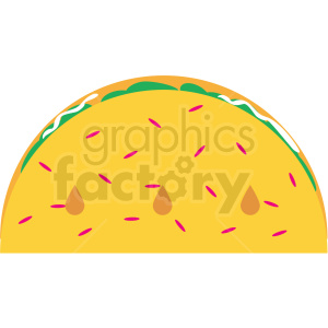 taco vector clipart clipart. Royalty-free image # 411481