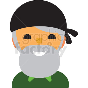 man with gray beard avatar icon vector clipart clipart. Royalty-free image # 411509