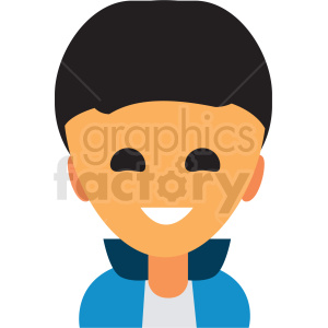 boy with dark hair avatar icon vector clipart clipart. Commercial use image # 411512