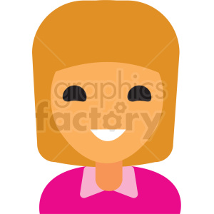 girl with blonde hair top avatar icon vector clipart