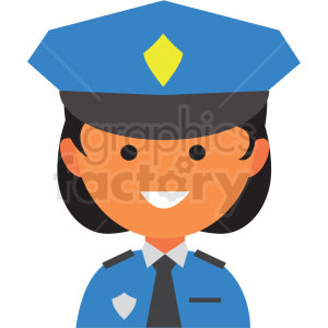 female police icon vector clipart clipart. Royalty-free image # 411552