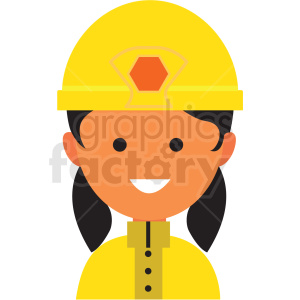 female firefighter icon vector clipart clipart. Royalty-free image # 411565