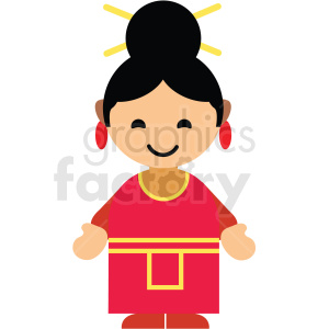 China female character icon vector clipart clipart. Commercial use image # 411596