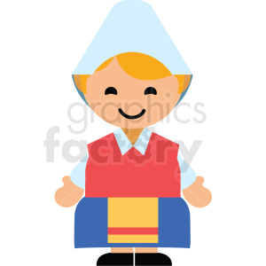 Sweden female character icon vector clipart clipart. Royalty-free image # 411611