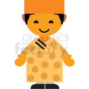 Vietnam male character icon vector clipart clipart. Royalty-free image # 411612
