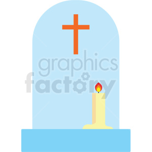 cross with candle vector clipart clipart. Royalty-free image # 411618