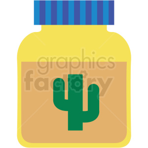 cactus jar vector clipart clipart. Commercial use image # 411638