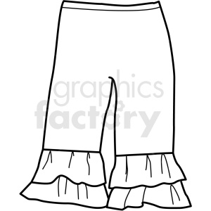 black white small pants icon vector clipart clipart. Royalty-free image # 411712