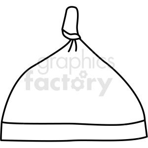 black white baby hat icon vector clipart clipart. Royalty-free image # 411722