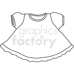 black white little girl dress vector clipart