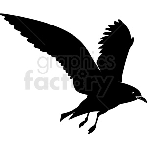 black and white seagull vector clipart clipart. Royalty-free image # 411767