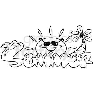 summer cartoon vector clipart