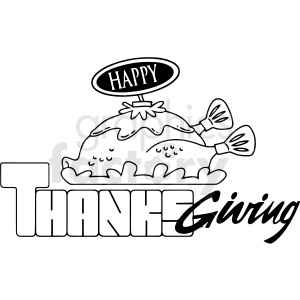 happy thanksgiving cartoon vector clipart clipart. Royalty-free image # 411774